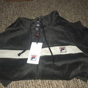 Slim velour jacket